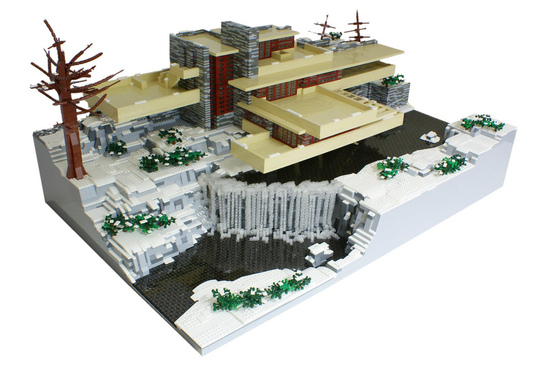Frank lloyd wright s falling water in legos zen web development - Falling waters lego ...